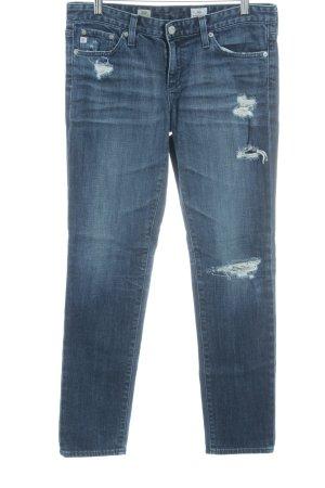 Adriano Goldschmied Jeans slim bleu style déchiré