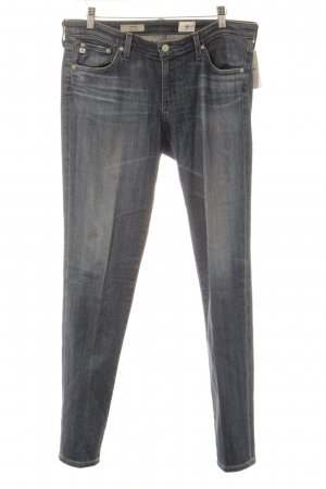 Adriano Goldschmied Slim Jeans stahlblau Street-Fashion-Look