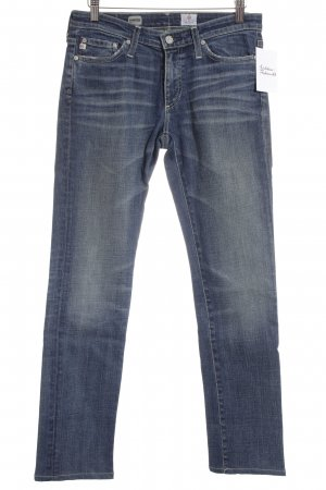 Adriano Goldschmied Straight Leg Jeans dark blue acid wash
