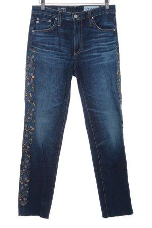 Adriano Goldschmied Jeans met rechte pijpen donkerblauw bloemen patroon