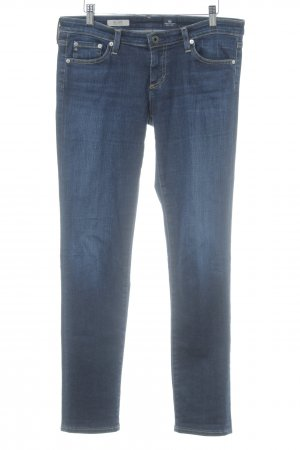 Adriano Goldschmied Straight-Leg Jeans dunkelblau Street-Fashion-Look