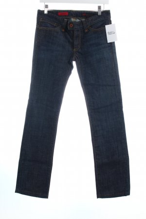 Adriano Goldschmied Straight-Leg Jeans dunkelblau-wollweiß Street-Fashion-Look