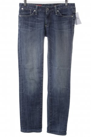 Adriano Goldschmied Straight-Leg Jeans stahlblau Street-Fashion-Look