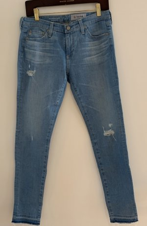 Adriano Goldschmied Jeans skinny bleu azur coton