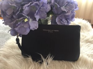 Adrienne Vittadini Clutch schwarz Echt Leder