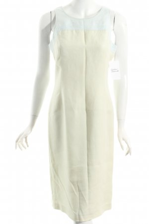 Adrienne Vittadini Midi Dress cream-light blue street-fashion look