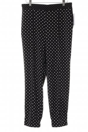 Adrienne Vittadini Jersey Pants black-white spot pattern casual look