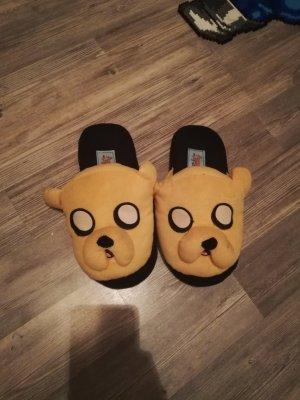 Zapatillas para casa naranja dorado