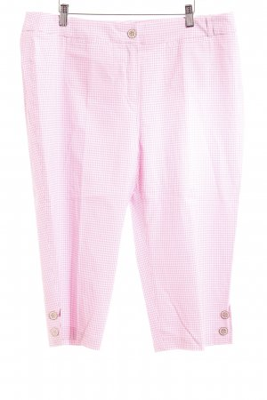 ae elegance 7/8 Length Trousers pink-white check pattern casual look