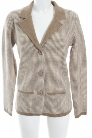 ae elegance Cardigan ocher-natural white check pattern elegant