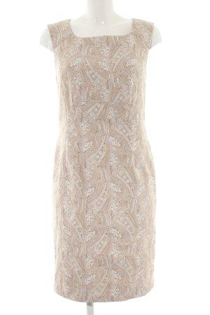ae elegance Robe fourreau crème motif abstrait style d'affaires