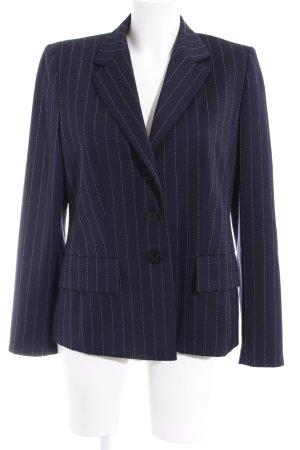 ae elegance Blazer in jersey blu scuro gessato stile professionale