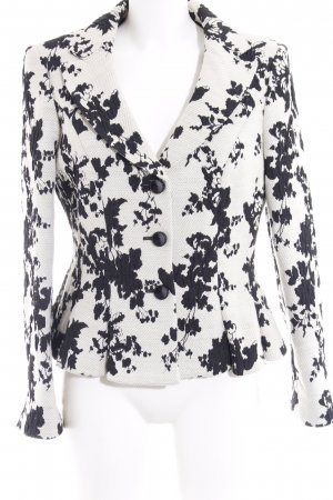ae elegance Jersey Blazer natural white-black floral pattern street-fashion look