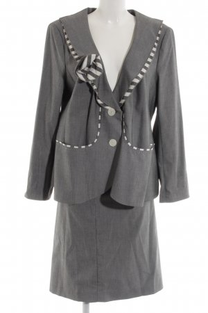 ae elegance Ladies' Suit light grey-white striped pattern elegant