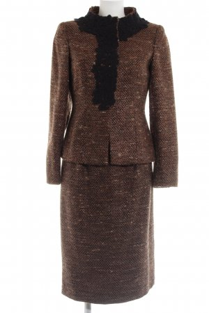 ae elegance Tailleur brun moucheté style d'affaires
