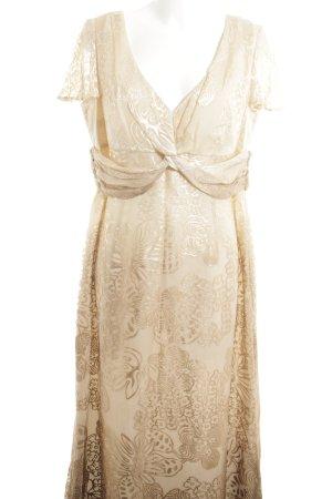 ae elegance Shortsleeve Dress cream flower pattern elegant