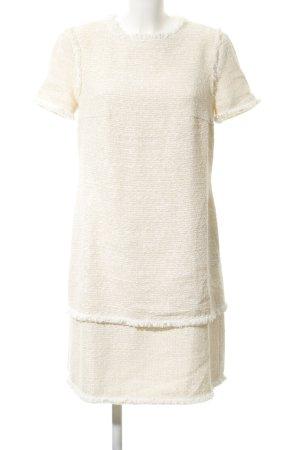 ae elegance Robe à manches courtes beige clair Motif de tissage