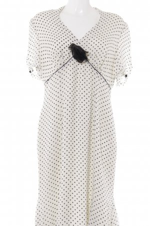ae elegance Shortsleeve Dress white-black spot pattern elegant