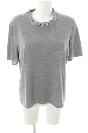 ae elegance Pull à manches courtes gris clair-argenté style décontracté