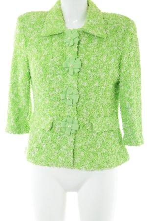 ae elegance Veste courte vert-blanc cassé imprimé allover style décontracté
