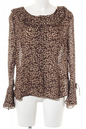 ae elegance Langarm-Bluse Animalmuster Street-Fashion-Look
