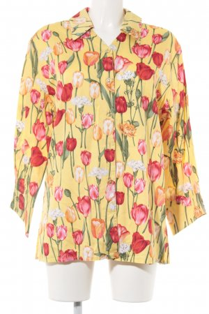 ae elegance Long Sleeve Blouse floral pattern casual look