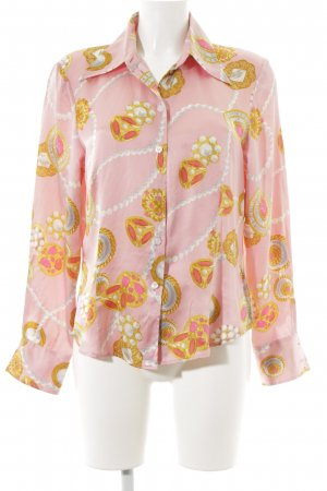 ae elegance Langarm-Bluse rosa-goldfarben Ethnomuster Elegant