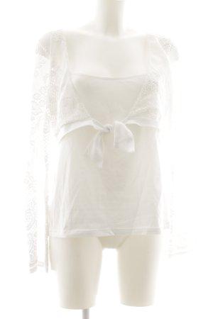 ae elegance Manga larga blanco look casual