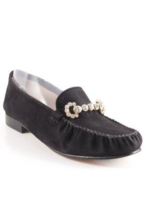 ae elegance Mocassino nero-oro elegante