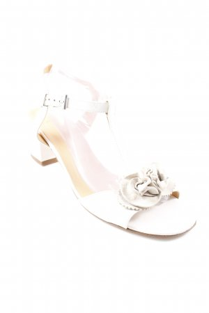 ae elegance Platform High-Heeled Sandal natural white-cream romantic style