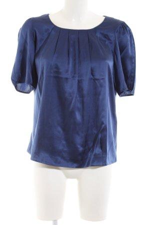 ae elegance Blouse en soie bleu style décontracté