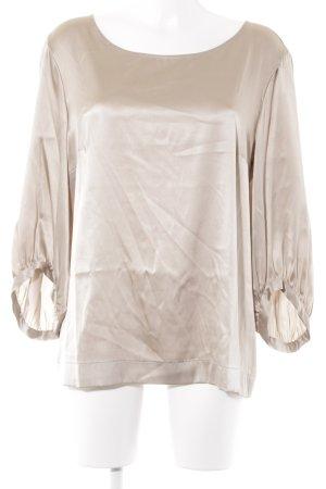 ae elegance Zijden blouse beige-camel zakelijke stijl