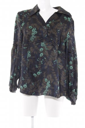 ae elegance Silk Blouse floral pattern casual look