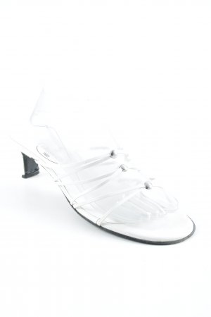 ae elegance Beach Sandals white-black