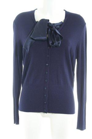 ae elegance Cardigan in maglia blu scuro stile casual