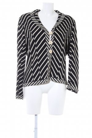 ae elegance Knitted Blazer black-cream striped pattern business style