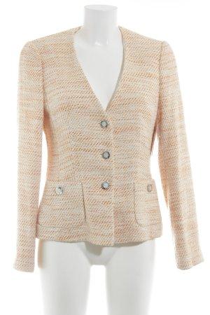 ae elegance Gebreide blazer wit-licht Oranje kleurverloop klassieke stijl