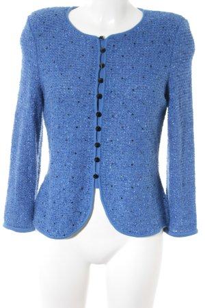 ae elegance Giacca in maglia blu-nero Stile anni '80