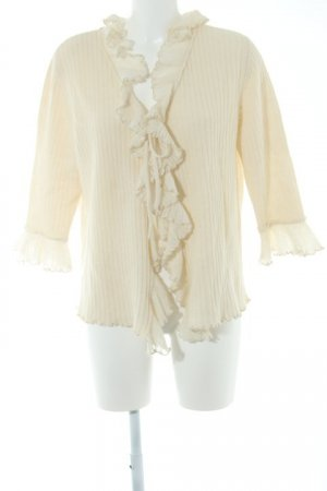 ae elegance Strickjacke creme Casual-Look