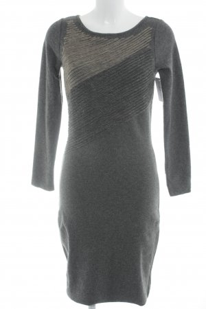 ae elegance Strickkleid anthrazit Streifenmuster Casual-Look