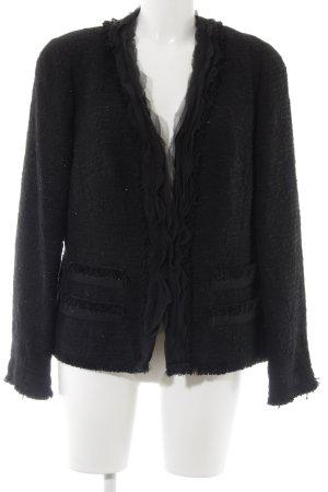 ae elegance Blazer en tweed noir-argenté moucheté élégant