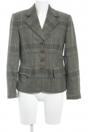 ae elegance Wool Blazer green grey-lime-green check pattern classic style