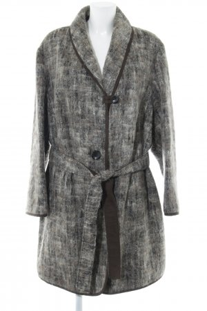 ae elegance Manteau en laine moucheté style décontracté