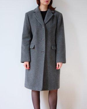 änny n minimalistischer wollmantel angora grau wintermantel S M