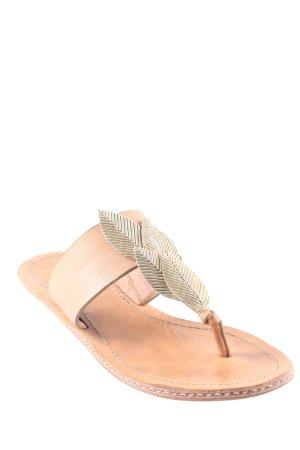 AERIN Toe-Post sandals gold-colored-light brown elegant