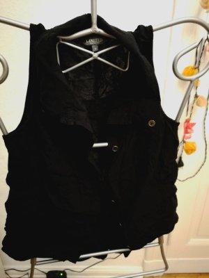 Ärmel lose Bluse in schwarz
