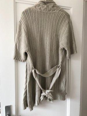 Cache-cœur en tricot beige clair