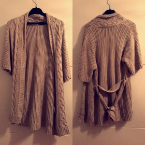 Knitted Wrap Cardigan oatmeal