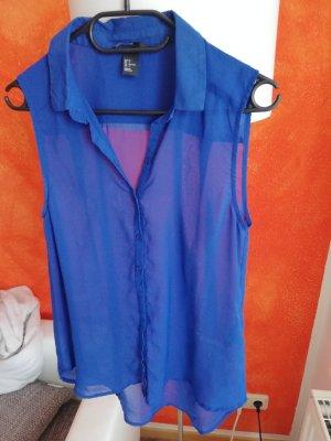 ärmellos Bluse - Blau - 36 - H&M
