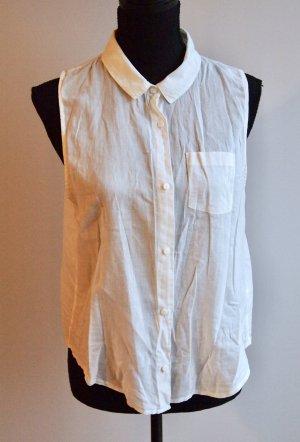 Ärmellose Basic Bluse weiß